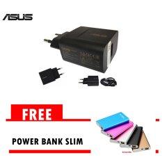 Harga Travel Charger Asus Nonpack Fast Charging Hitam Gratis Powerbank Asus Slim 5800Mah Satu Set