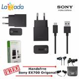 Harga Travel Charger Sony Uch10 Fast Charging 2A Original Free Handsfree Sony Ex700 Original Yg Bagus