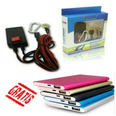 Travel Charger USB Handphone dari Aki Motor Usb Micro Free Power Bank Slim