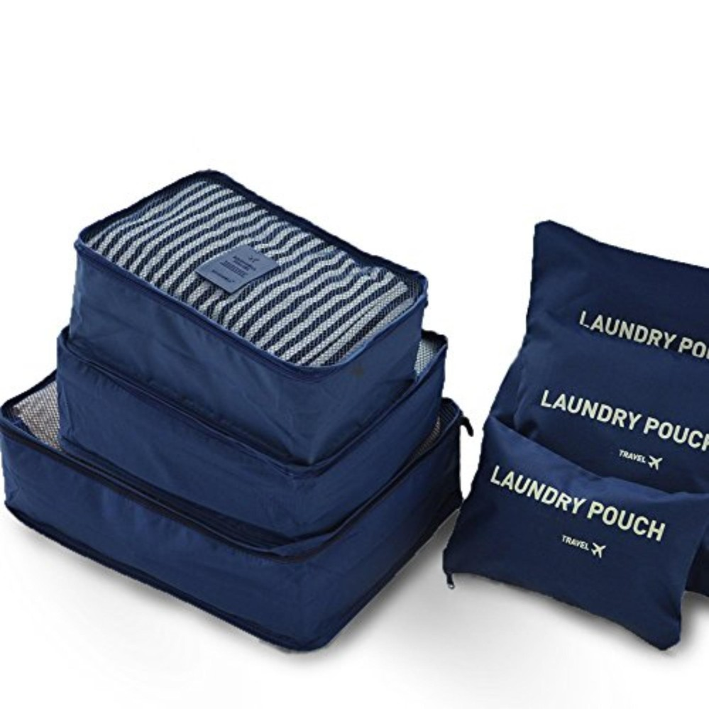 Travelling Bag 6 In 1 - Pouch Set - Organizer - Travel Bag Organizer