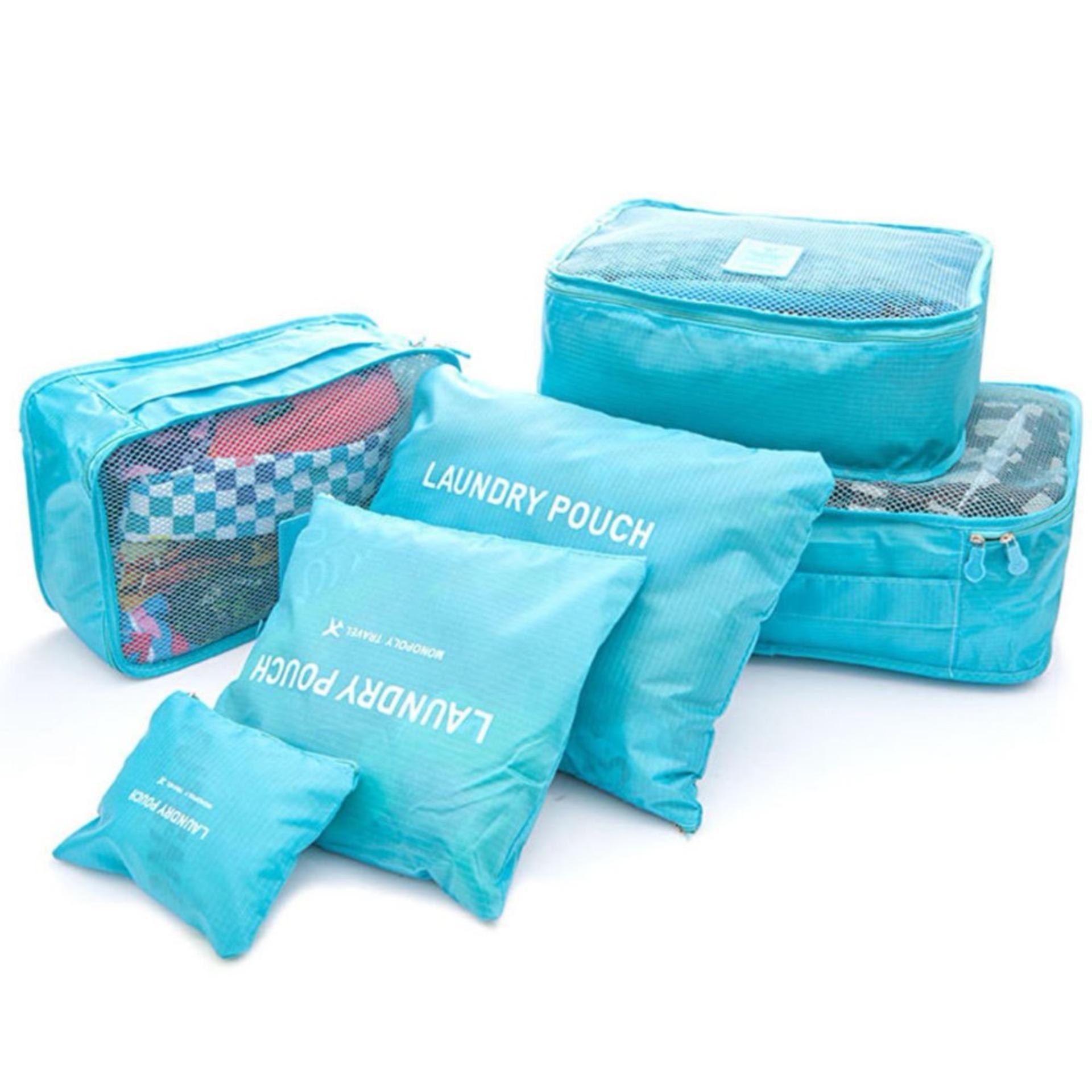 Travelling Bag 6 In 1 - Pouch Set - Organizer - Travel Bag Organizer