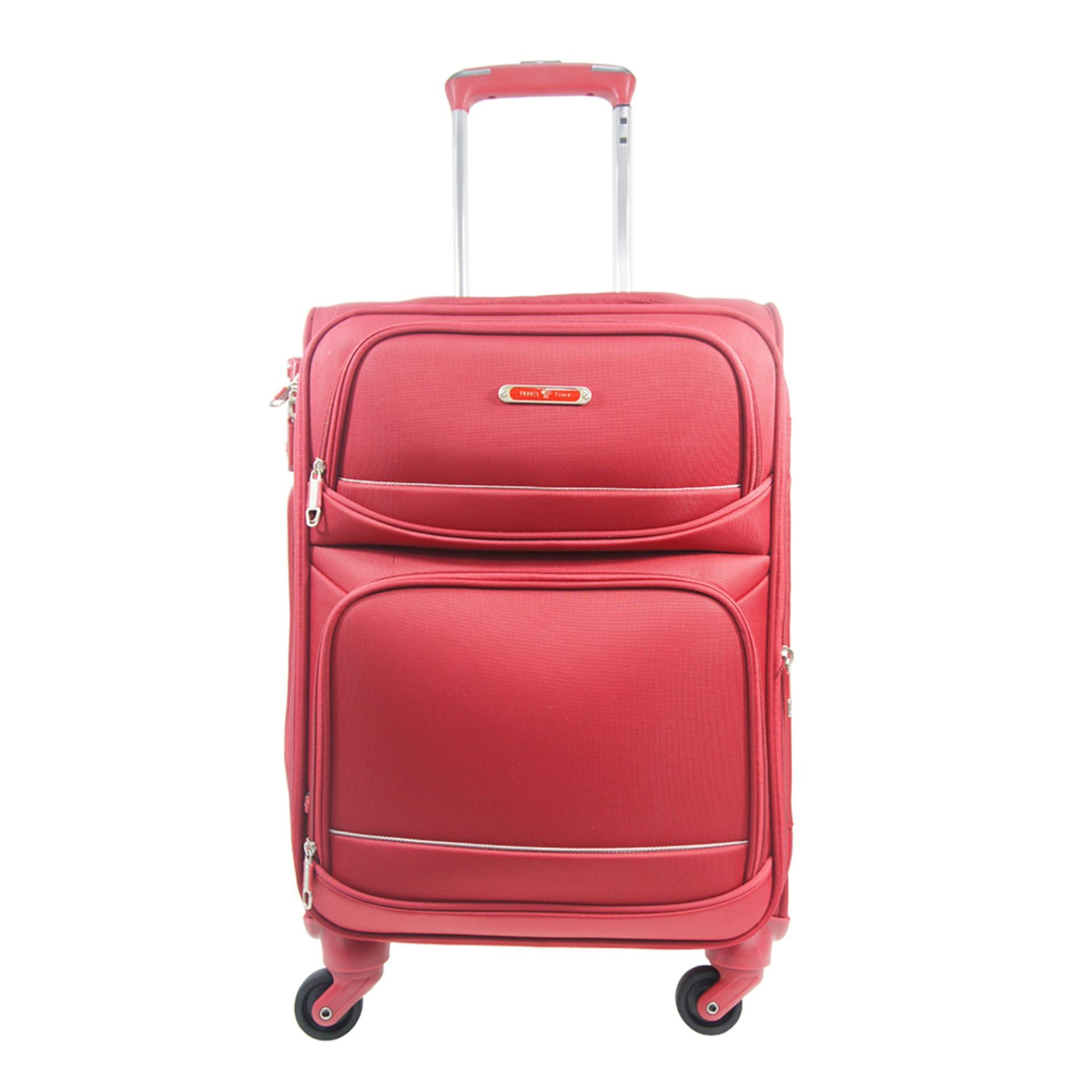 Situs Review Traveltime Tsa5183 01 Tas Koper Kabin Softcase 18 Inch The Secure Anti Theft Zipper Tas Traveling 4 Roda