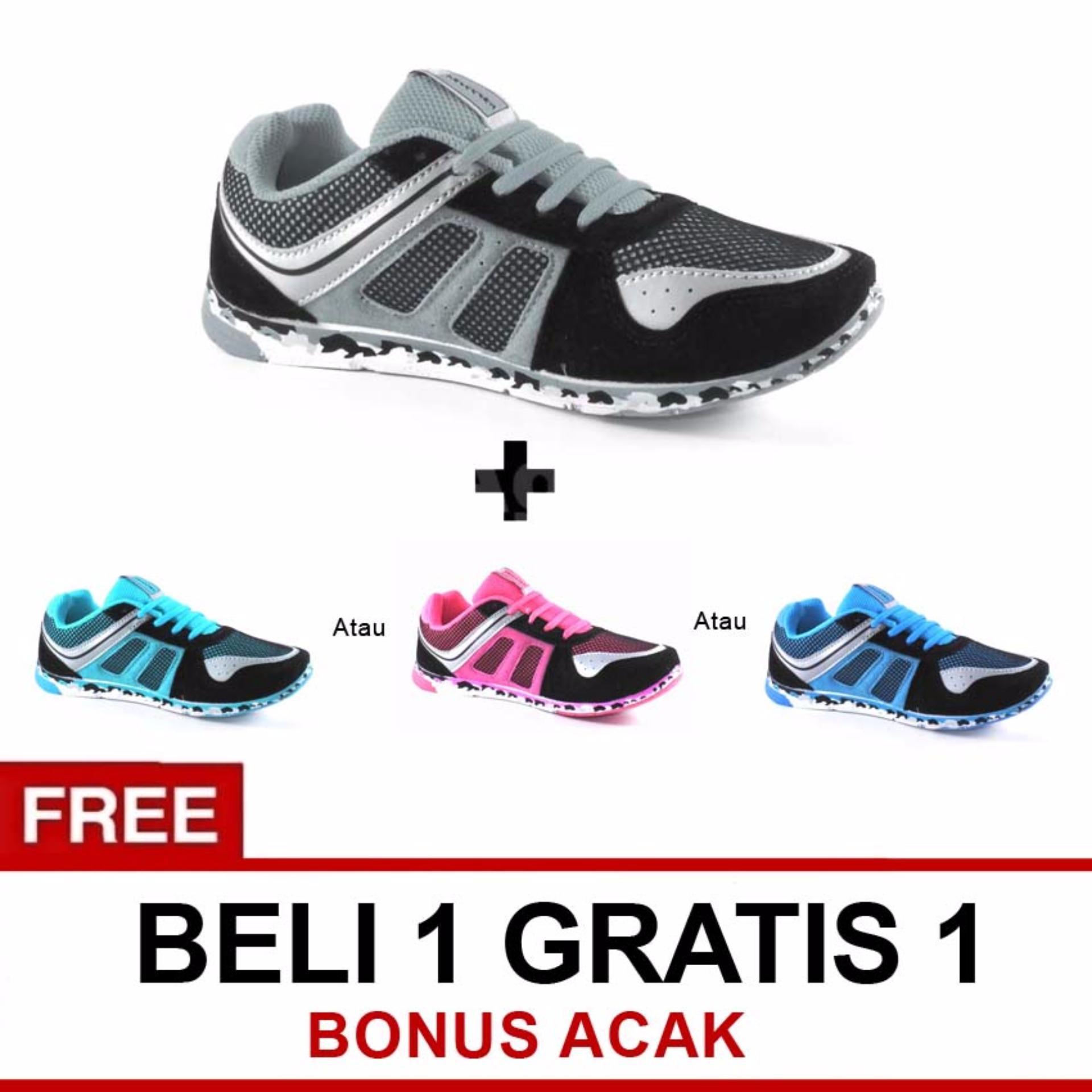 Jual Trekkers Jw Pisces Sepatu Olahraga Hitam Abu Tua Beli 1 Gratis 1 Random Trekkers Branded