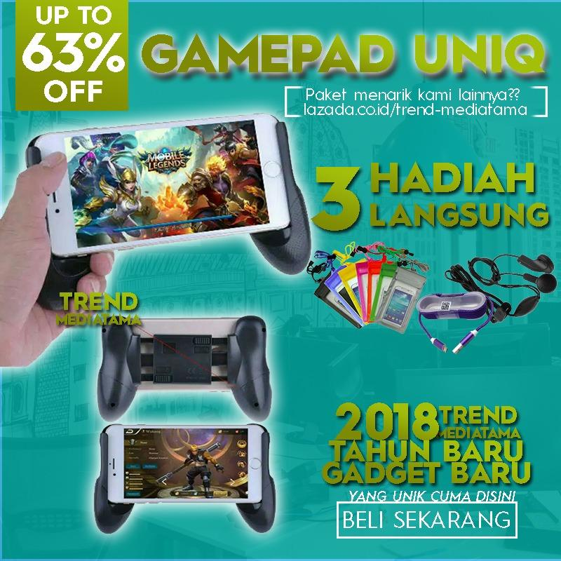 Trend's Gamepad Mobile Joystick Controller - Game Pad Grip MOBA Smartphone AOV Free Waterproof + Handsfree MP3 + Cable Metallic 1m