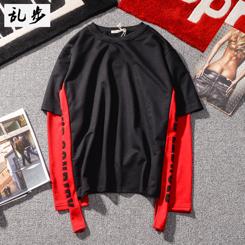 Promo Trendi Gaya Jepang Hip Hop Warna Campuran Pita Senam Baju Dalaman T Shirt Hitam Baju Atasan Kaos Pria Kemeja Pria Tiongkok