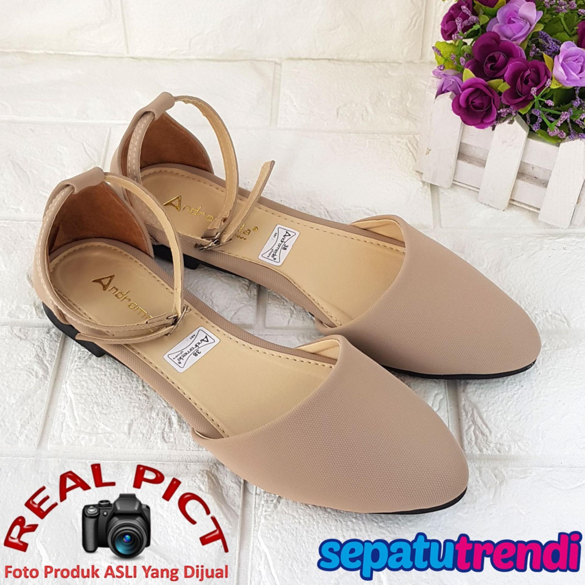 Harga Trendi Sepatu Wanita Flat Shoes D Orsay Ankle Strap Gelang Soglg Lengkap