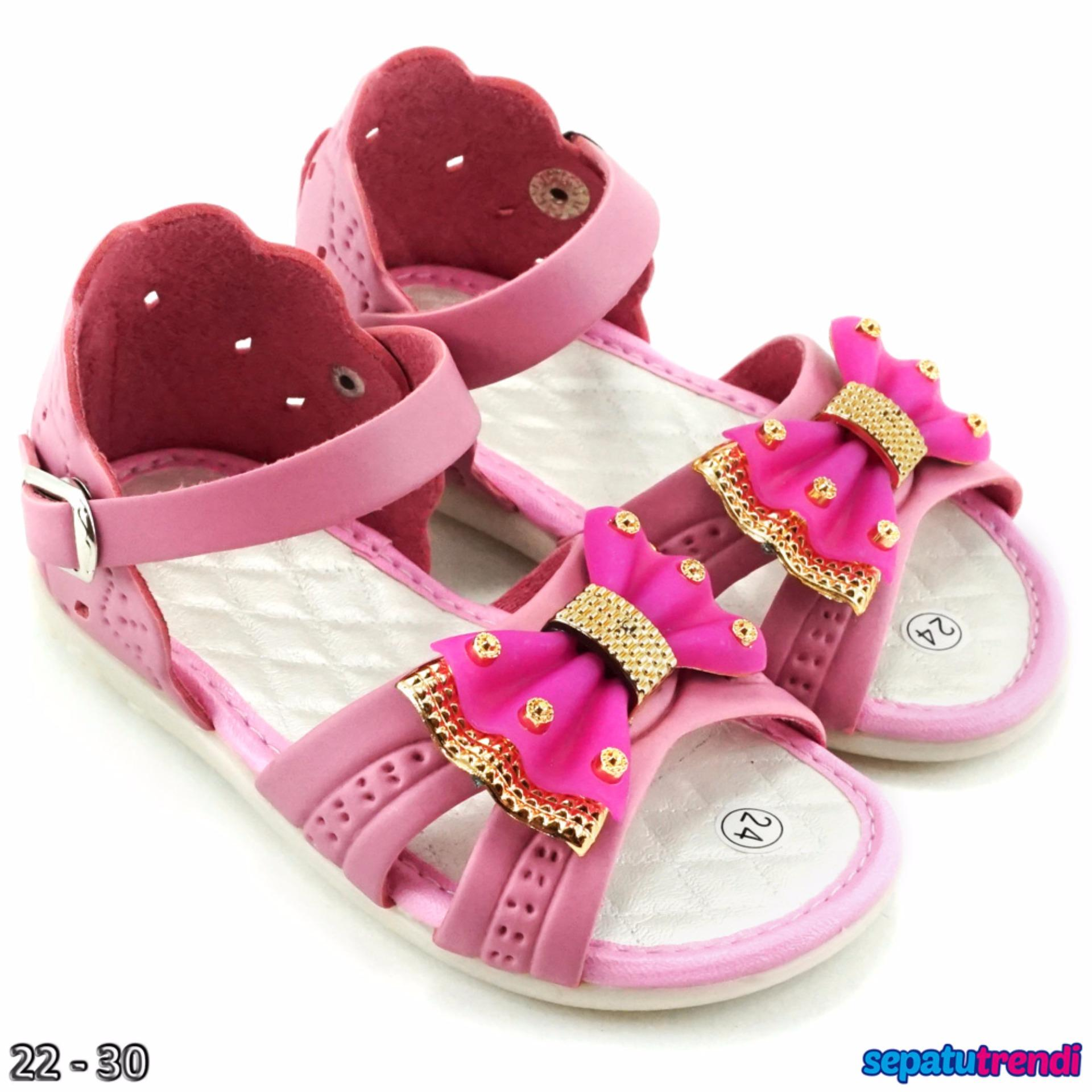 Trendishoes Sandal Anak Perempuan Variasi Pita Kx06 Pink Jawa Barat Diskon 50