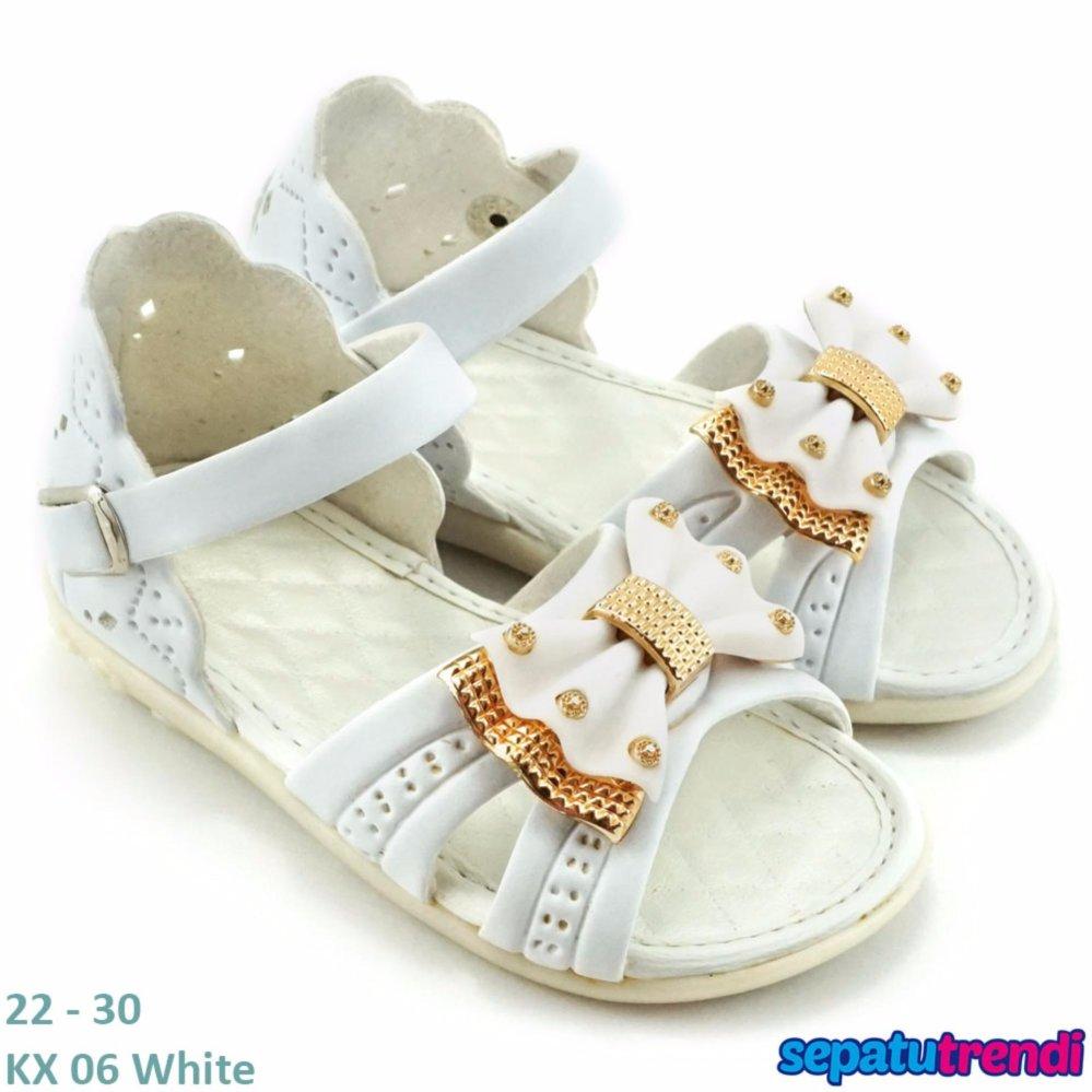 Jual Trendishoes Sandal Anak Perempuan Variasi Pita Kx06 Putih Lengkap