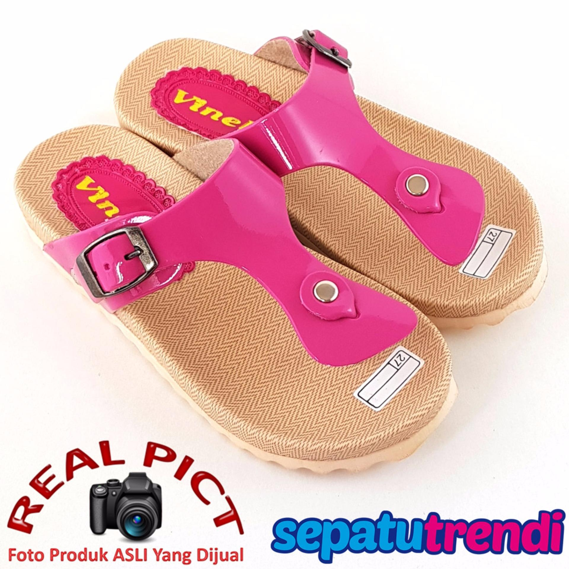 Ulasan Trendishoes Sandal Anak Perempuan Vkl01 Fuchsia