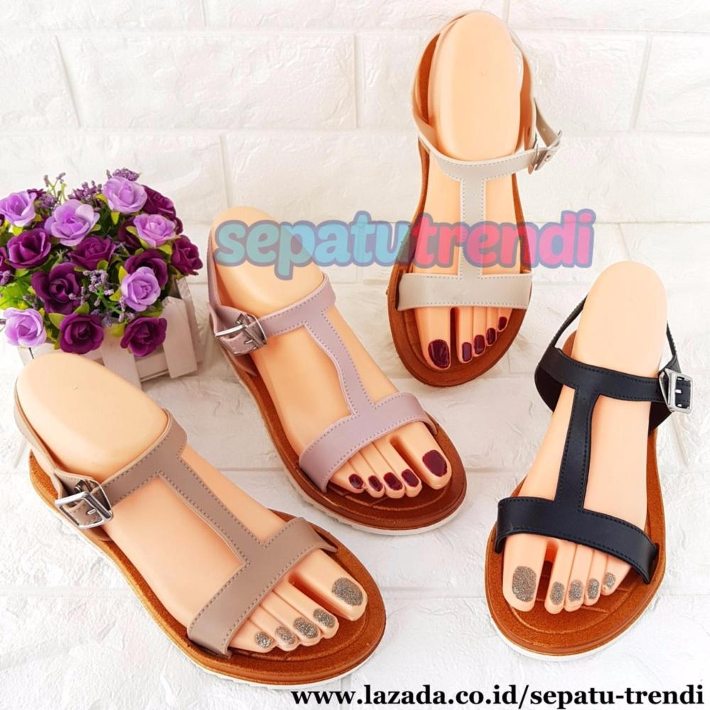 TrendiShoes Sandal Jelly Wanita T Strap WARNA DIKIRIM RANDOM JLTSPLS