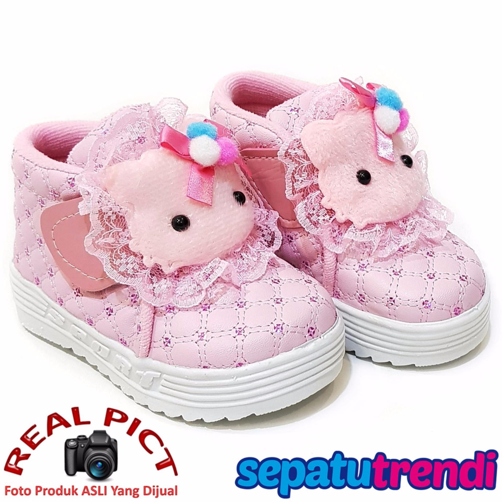 Toko Trendishoes Sepatu Anak Bayi Perempuan Semi Boot Boneka Sbnk Pink Dekat Sini