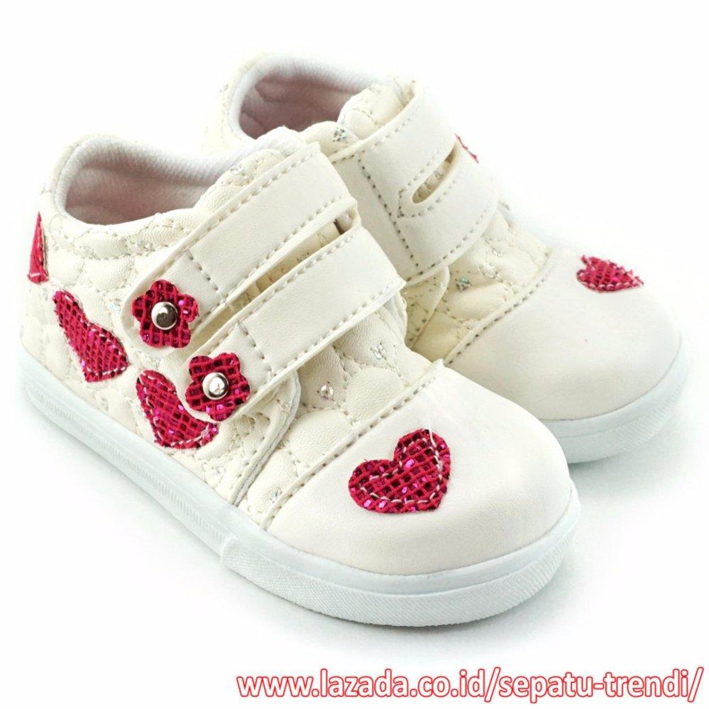 Beli Trendishoes Sepatu Anak Bayi Perempuan Walker Bunga Love Putih Lengkap