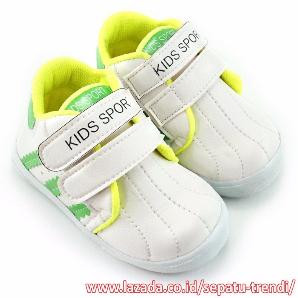 Toko Trendishoes Sepatu Anak Laki Laki Kids Sport Dsag Putih Hijau Trendishoes