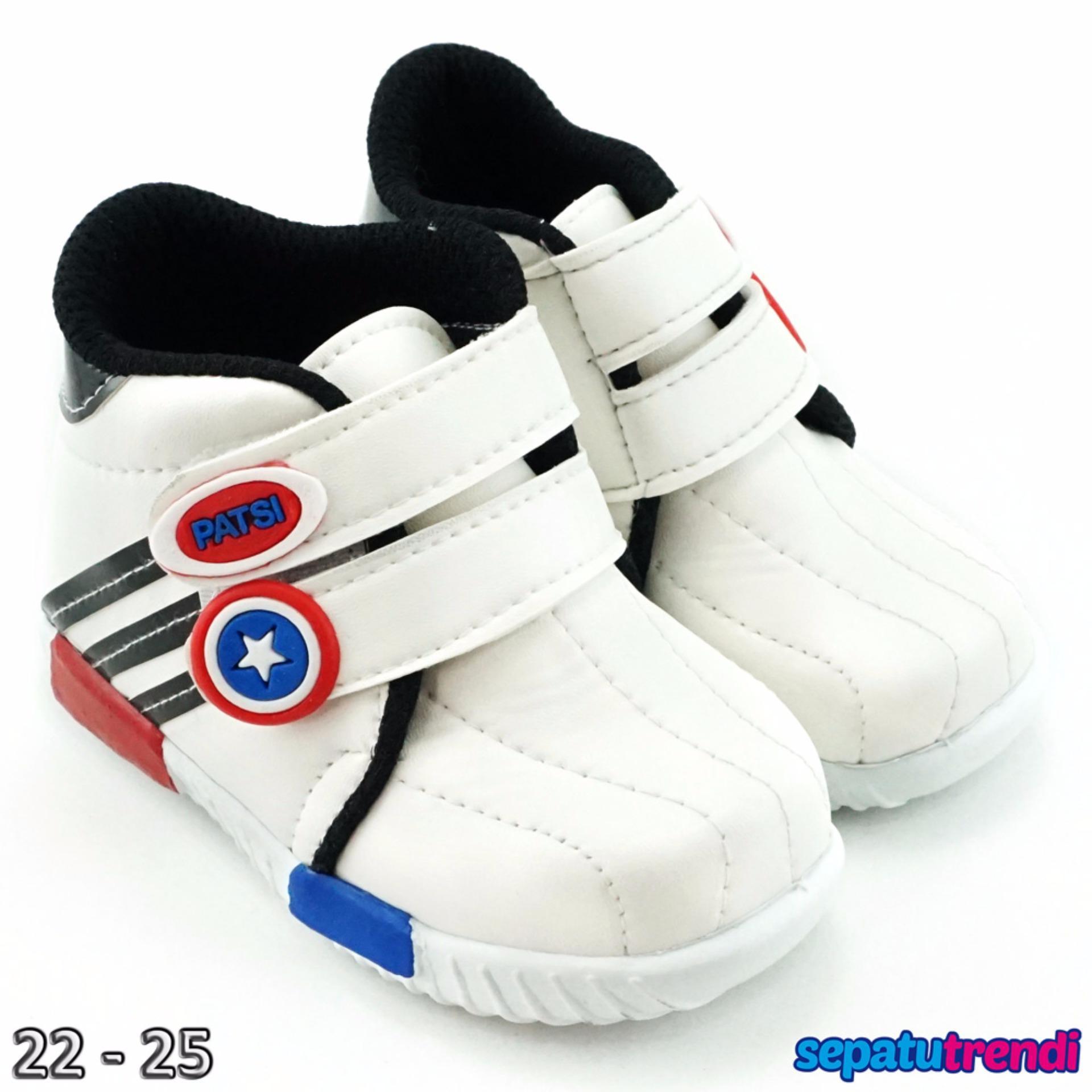 Spesifikasi Trendishoes Sepatu Anak Laki Laki Sport High Cut Semi Boot Jbk Hitam Murah