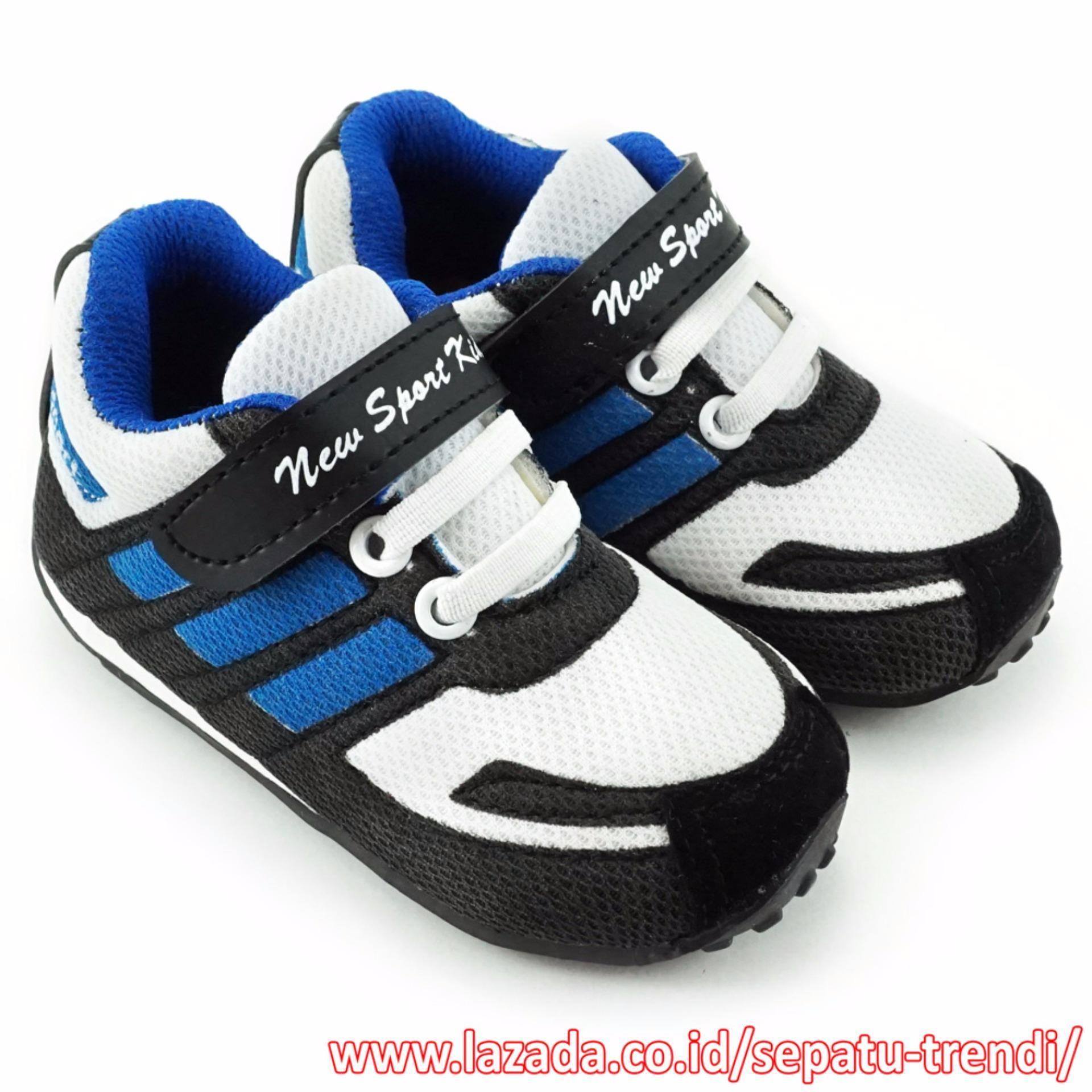 TrendiShoes Sepatu Anak Laki New Sport Kids DKDS - Biru