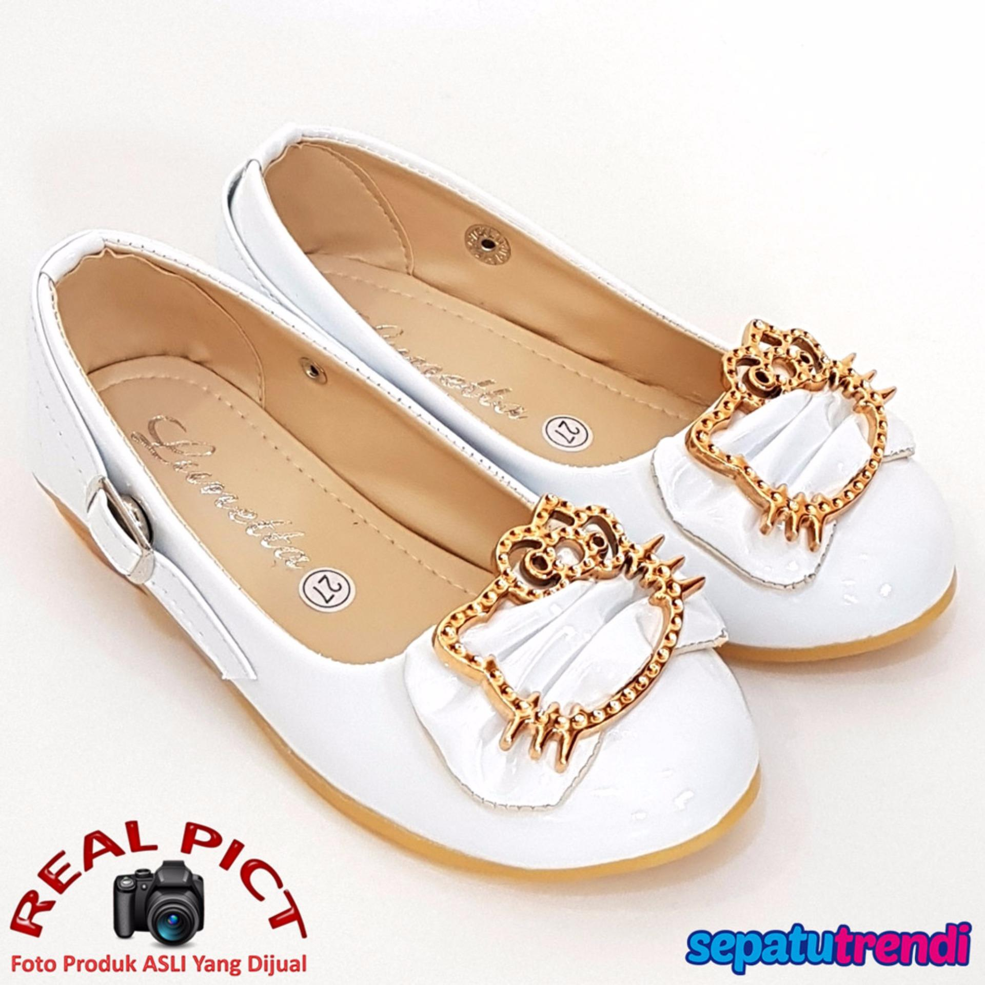 Toko Indonesia Perbandingan Harga Sepatu Anak Perempuan 12 08 18 Santica Michiko Trendishoes Cantik Lnhk Putih