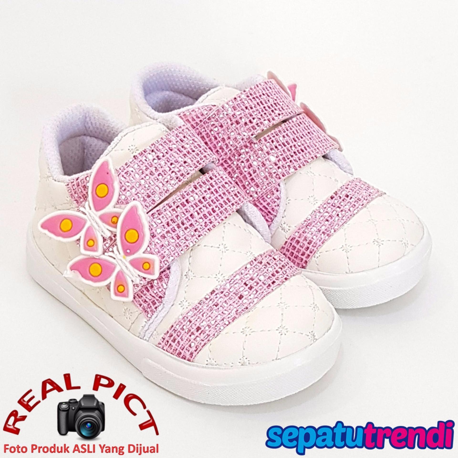 Toko Jual Trendishoes Sepatu Anak Perempuan Kpwj Putih Pink