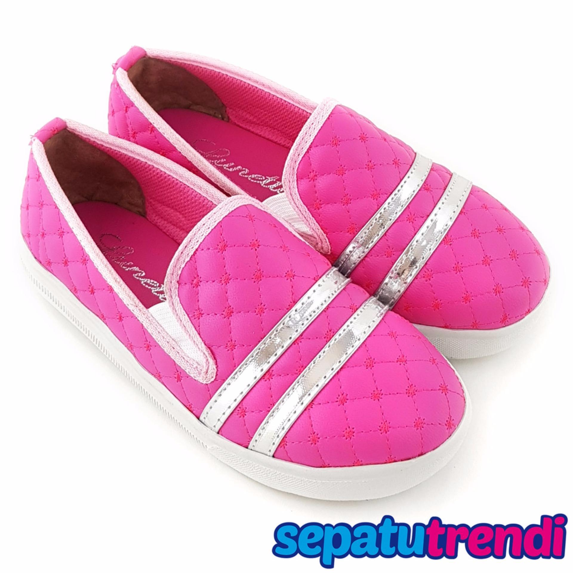 Jual Trendishoes Sepatu Anak Perempuan Slipon Elegan 07Rd Fuchsia Trendishoes Grosir