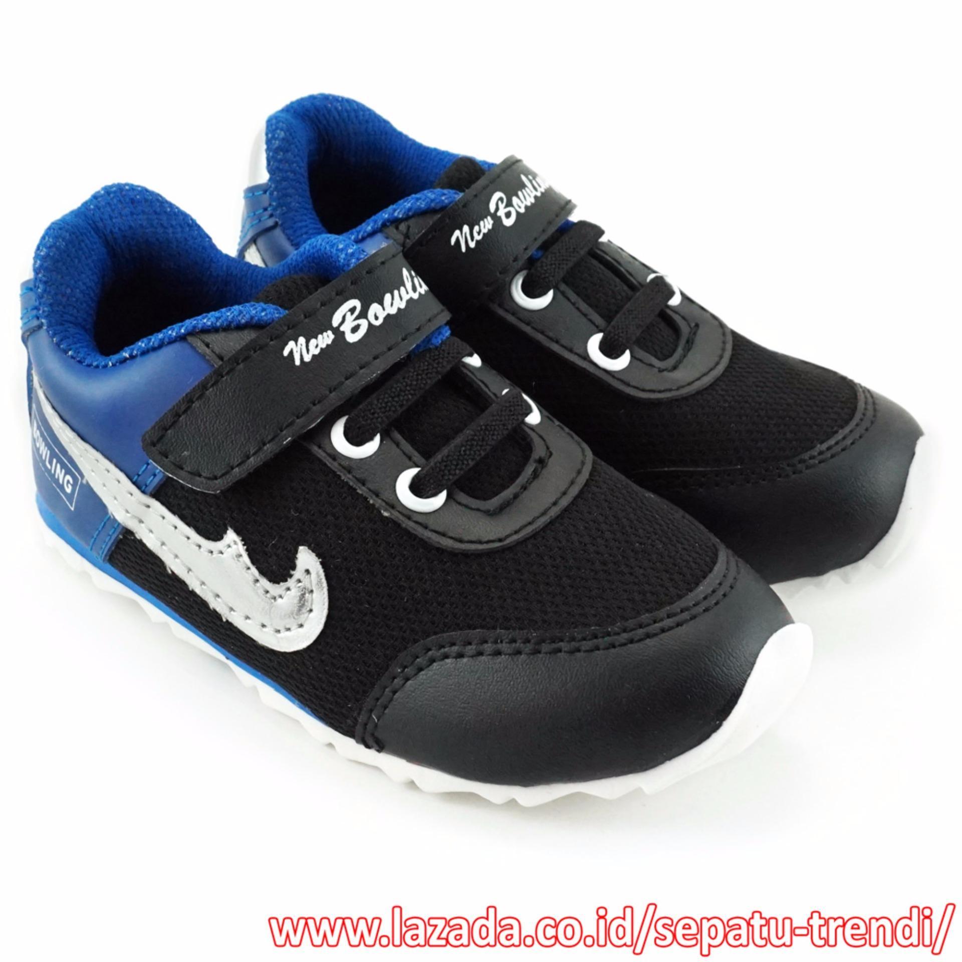 Jual Beli Trendishoes Sepatu Anak Sporty New Bowling Biru