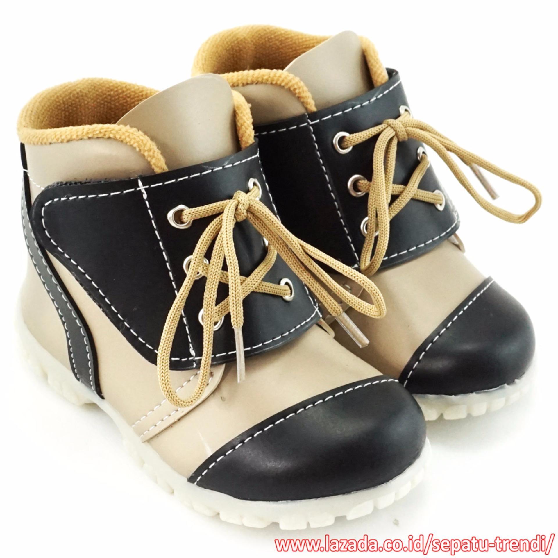 Spesifikasi Trendishoes Sepatu Boot Anak Bayi Walker 3Lv Beige Murah
