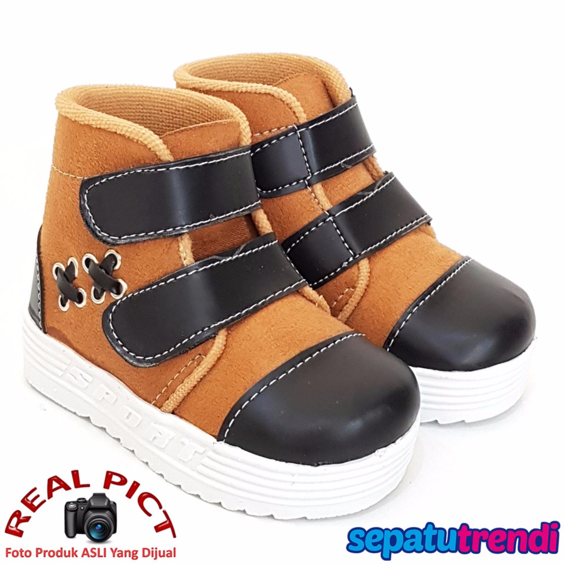 Harga Trendishoes Sepatu Boot Anak Laki Suede Velcro Xxsp Tan Hitam Yg Bagus