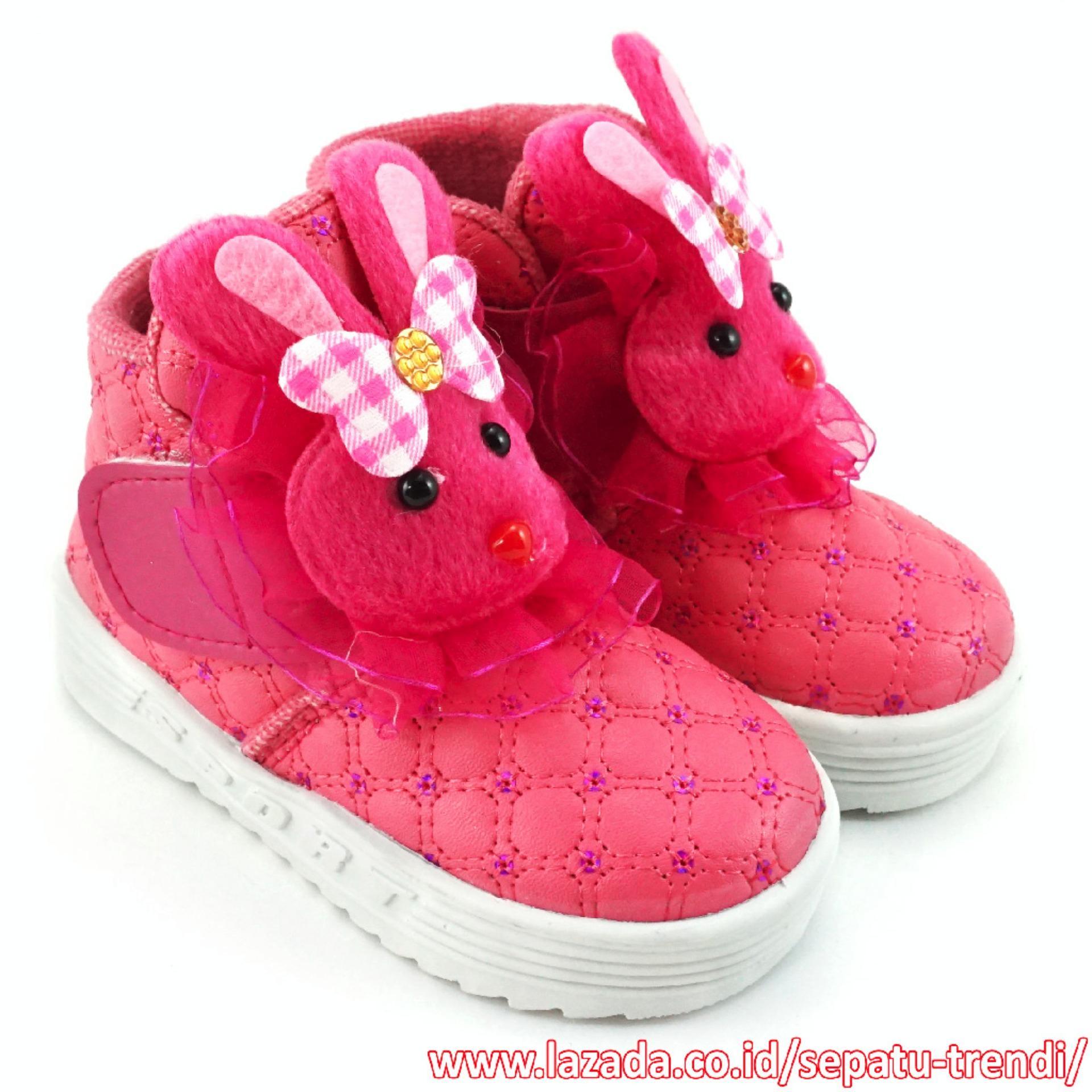 Jual Trendishoes Sepatu Boot Anak Perempuan Boneka Cantik Fuchsia Trendishoes Original