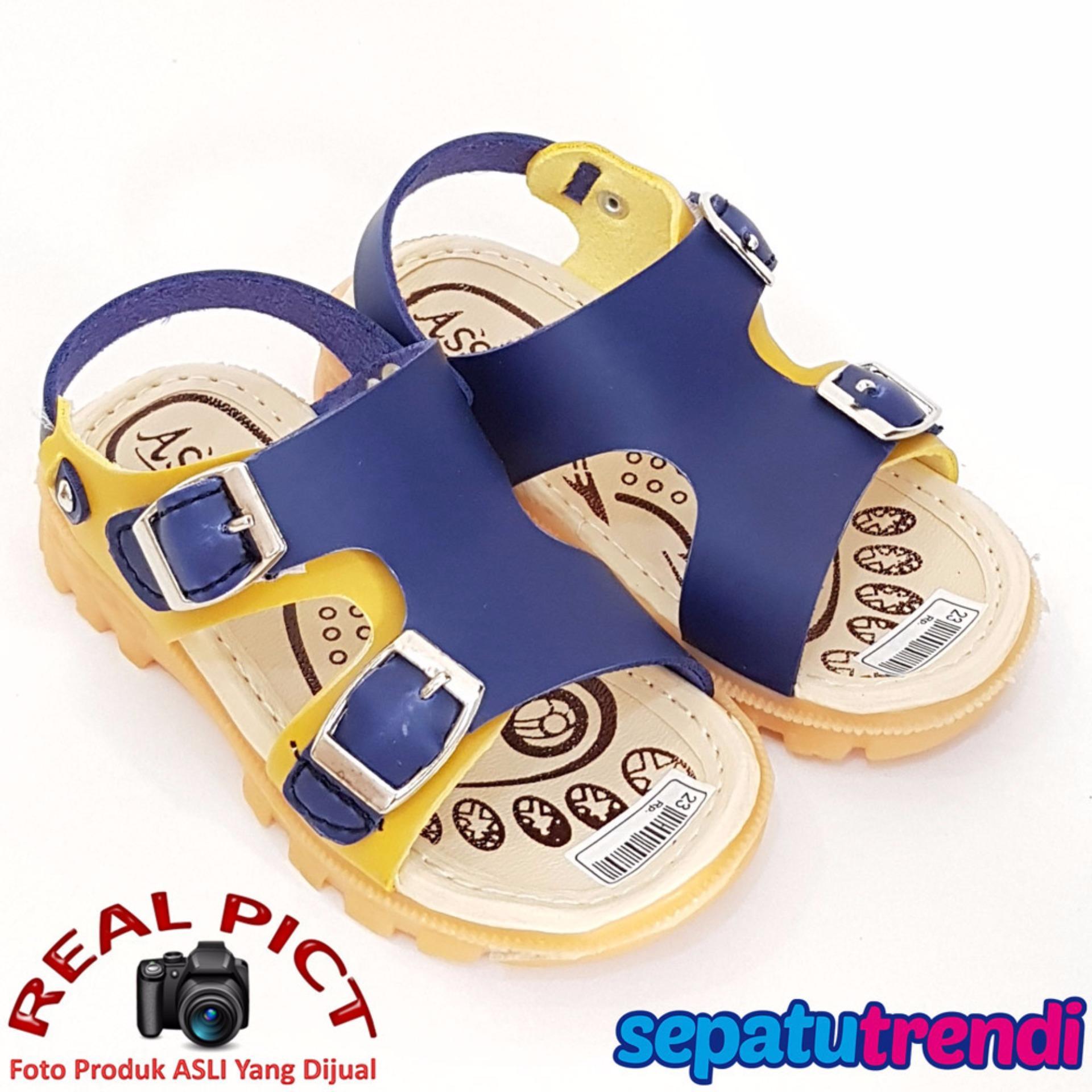 TrendiShoes Sepatu Sandal Anak Laki ASGS2 - Blue Yellow