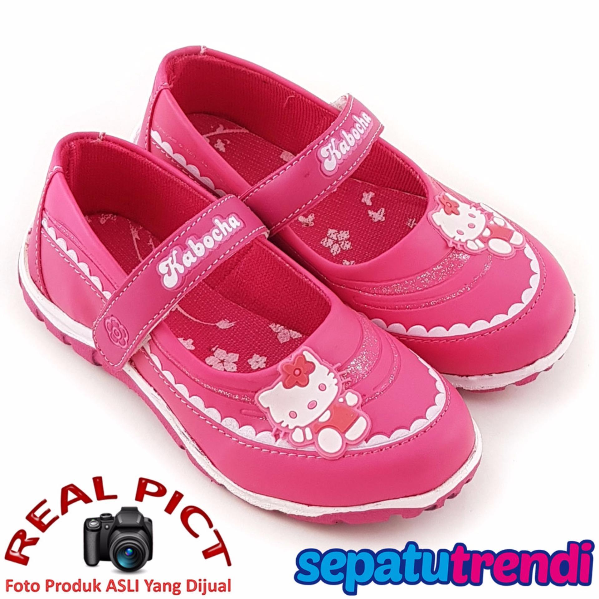Jual Trendishoes Sepatu Sekolah Anak Perempuan Cantik Kb021 Fuchsia Branded Murah
