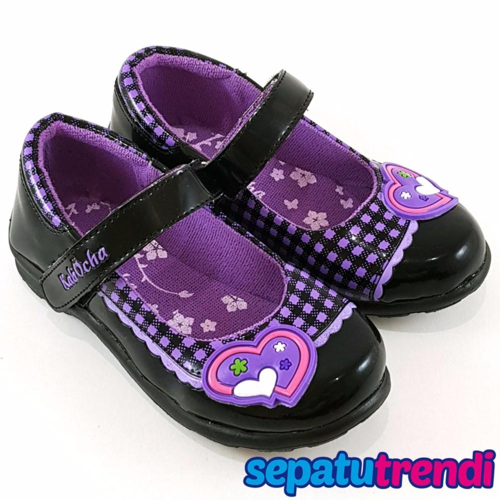 Toko Trendishoes Sepatu Sekolah Anak Perempuan Mary Jane Motif Boneka Random Kvb01 Lengkap