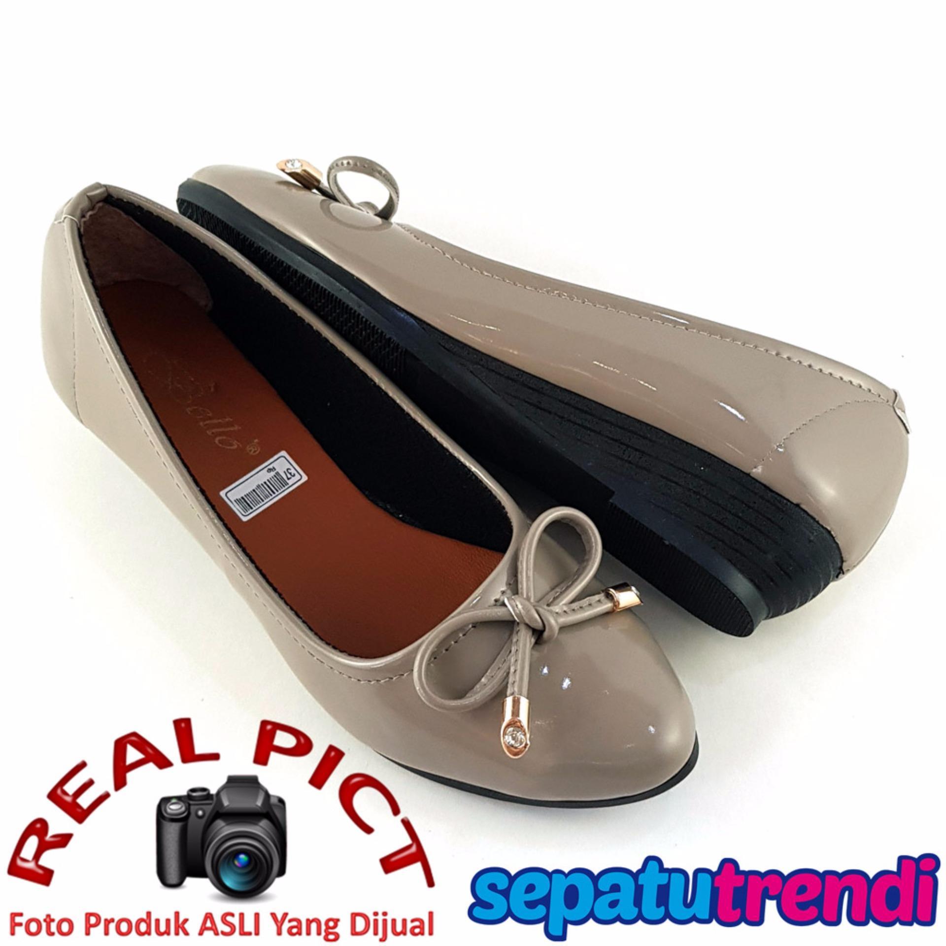 Jual Trendishoes Sepatu Wedges Wanita Pita Elegan Bo163 Grey Di Jawa Barat
