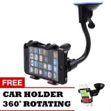 Cara Beli Trend S Car Holder For Universal Hp Hitam Gratis Car Holder Universal 360 Rotating