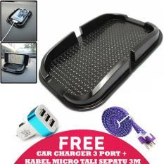 Spesifikasi Trend S Dashboard Holder Anti Slip Holder Dashboard Hitam Kabel Charger Micro Tali Sepatu 3 Meter Car Charger 3 Port Dan Harganya