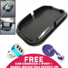 Beli Trend S Dashboard Holder Anti Slip Holder Dashboard Hitam Kabel Charger Micro Tali Sepatu 3 Meter Car Charger 3 Port Murah