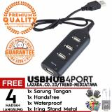 Harga Trend S Usb Portable 4 Ports Usb Hub Super Speed Gratis Sarung Tangan Handsfree Earphone Headset Waterproof Iring Paling Murah