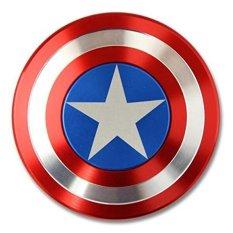 Tri-spinner Fidget Toy Hand Spinner Baru Captain America EDC untuk ADHD (Perisai) -Intl