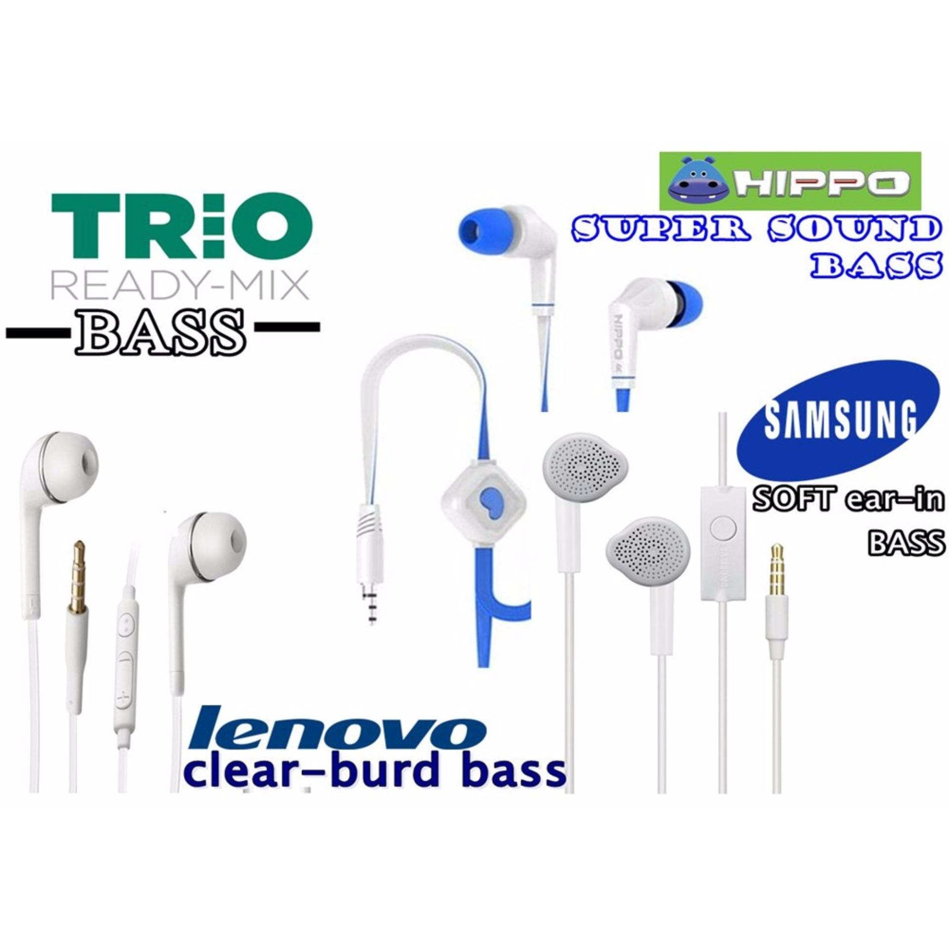Harga Trio Handsfree Ready Bass Samsung Soft Bass Lenovo Claar In Bass Hippo Super Bass Asli