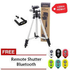 Tripod 3110A For Kamera And Smartphone + Free Remote Shutter Bluetooth