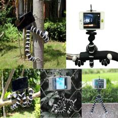 Tripod Flexible Gorilla FBL With Holder Stand Mount for Gopro Camera/SLR /DV Mini Camera Handphone - Tripod Murah Tripod Flexible Penyangga HP Mini Fleksibel Stan Kaki Gorilla Tumpuan Kaki Tiga - Hitam