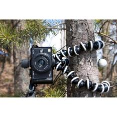 Tripod Flexible Gorilla With Holder Stand Mount for Gopro Camera/SLR /DV Mini Camera Handphone - Tripod Murah Tripod Flexible Penyangga HP Mini Fleksibel Stan Kaki Gorilla Tumpuan Kaki Tiga - Hitam