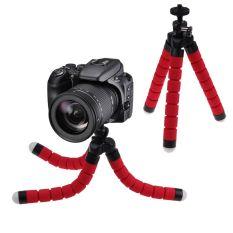 Tripod Fleksibel Octopus Bracket Stand Mount untuk GoPro Kamera/SLR/DV Mini-Merah-Intl