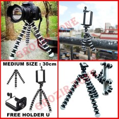 Tripod Gorila Untuk Hp / Kamera Free Holder U - MEDIUM SIZE 30cm [ grozir zone ]