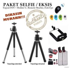Tripod Mini For Handphone And Camera - Gratis Fish Eye Lens + Remote Shutter