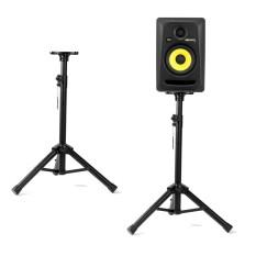 Tripod Speaker Stand Holder Mount Adjustable Konstruksi Baja Kasar-Intl