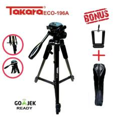 Tripod Takara eco 196a plus bag holder tripod kamera DLSR dan phone