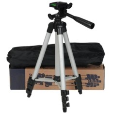 Tripod Weifeng WT-3110-A - For Camera & Handphone - Silver - Free Holder U And Bag Cover Mouzeng