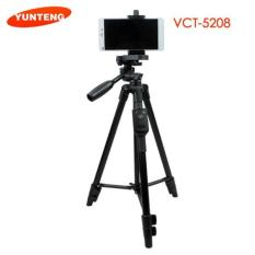 Tripod YUNTENG Bluetooth VCT 5208 - Standing Hp & Camera
