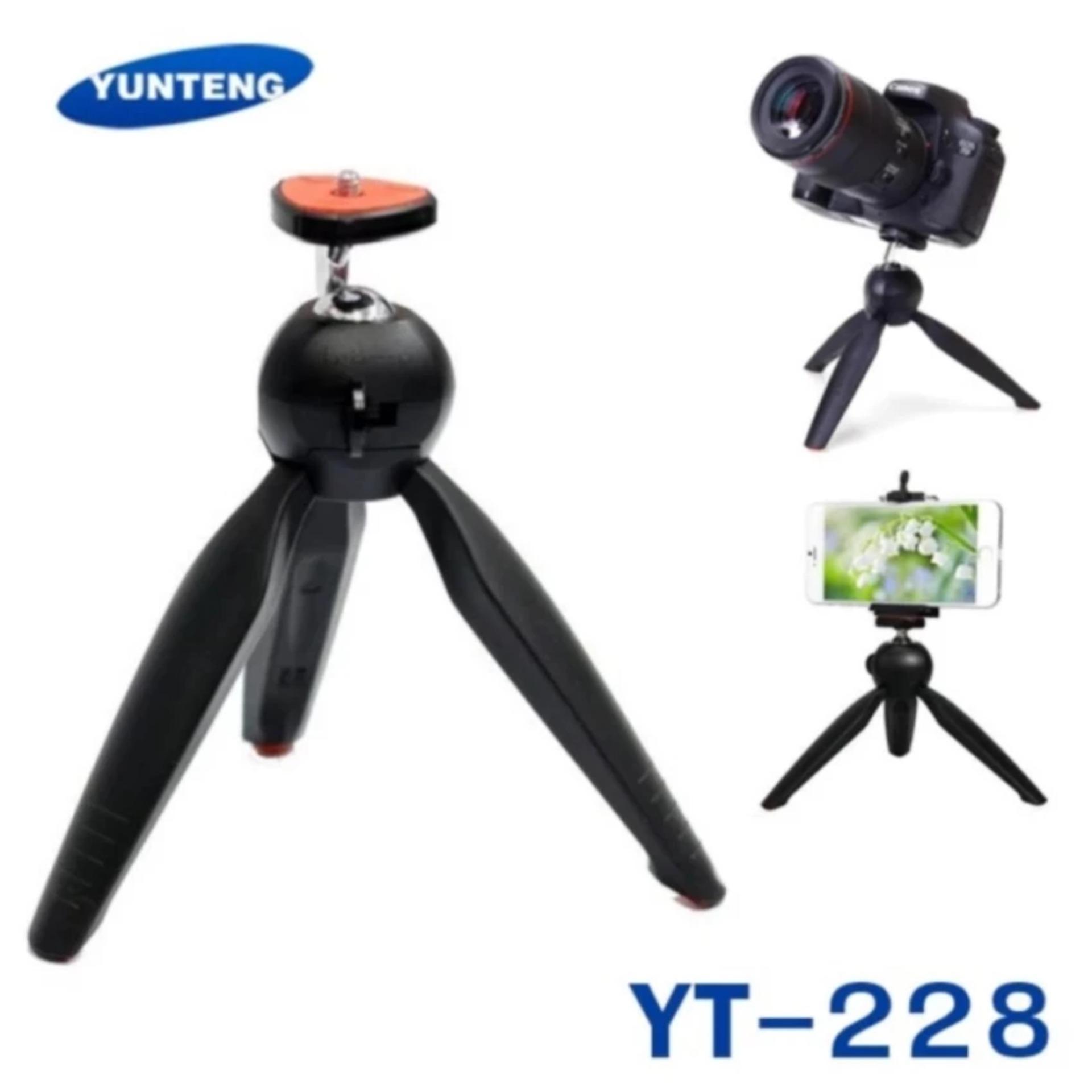 Tripod Yunteng Mini YT-228 Original - Hitam