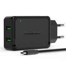 Tronsmart Ts Wc2F 2 Port Qualcomm Quick Charger 2 2Pcs Micro Usb Cable Hitam Tronsmart Diskon 40