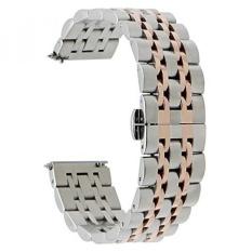 TRUMiRR 22mm Rilis Cepat Watch Band Stainless Steel Butterfly Buckle Strap untuk Samsung Gear S3 Classic Frontier, Gear 2 R380 R381 R382, Moto 360 2 46mm, ASUS ZenWatch 1 2 Pria Smart Watch-Intl