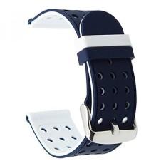 Trumirr 24 Mm Silikon Karet Jam Tangan Tali Ganda Sisi Memakai Tali untuk Sony Jam Tangan Pintar 2 SW2, Suunto TRAVERSE, jam Tangan Lainnya dengan 24 Mm Lug-Internasional